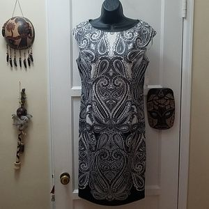 Black and white paisley dress
